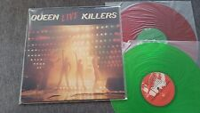 Queen/Freddie Mercury-LIVE KILLERS 2 X LP RED & GREEN coloured VINILE Giappone