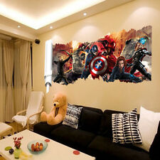 The Avengers Wall Sticker Team Hulk Home Room Decal Decoration 3D Wallpaper