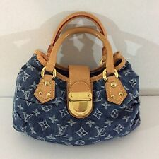Louis Vuitton Authentic Monogram Denim Satchel / Handbag