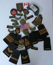 CANADIAN AND AMERICAN MIXED LOT MILITARY CLOTH BADGES