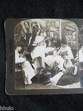 STA002 Scène de genre Jeunes filles collège Harvard STEREO vintage Photographie