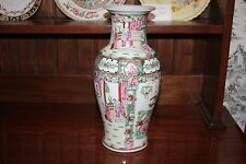 STUNNING CHINESE ANTIQUE CHINESE FAMILLE ROSE VASE
