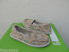 SANUK MELON I CAN'T QUILT YOU CHILL SIDEWALK SURFER SHOES, US 8/ EUR 39 ~ NWT