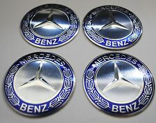 MERCEDES Wheel Hub Caps Badge Emblem Stickers METAL 65mm  Set HIGH QUALITY BIG!