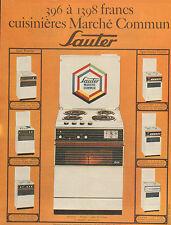 Publicité 1968  SAUTER cuisinières