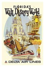DELTA AIRLINES WALT DISNEY WORLD POSTER 12X18