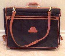 MAURICE LACROIX Fine Leather Signature Black Canvas Garment Bag Suit Case France