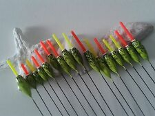 HAND MADE POLE FISHING FLOATS - RIZOV RF104 - 15 PCS. - 3x0.1/0.3/0.5/0.75/1 GR.