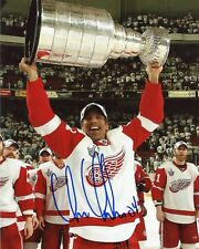 """CHRIS CHELIOS DETROIT RED WINGS SIGNED 8""""x10"""" PHOTO w/ COA"""