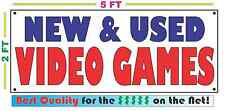 NEW AND USED VIDEO GAMES Banner Sign NEW Larger Size Best Price for The $$$ Pawn