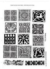 Craft Rubber Stamp-unmounted non-adhesive- Medieval Tiles  (64)