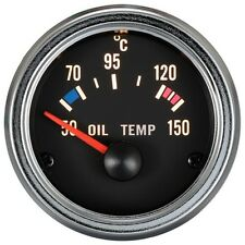 100% Made in Taiwan 52mm 90 degree scale Chrome Rim Oil Temp Gauge