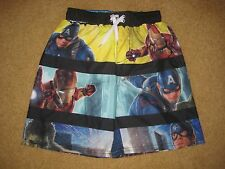 BOYS MARVEL THE AVENGERS SWIM TRUNKS - Size 4/5 (New With Tags)