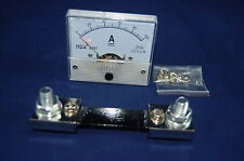DC 100A Analog Ammeter Panel AMP Current Meter 85C1 0-100A DC with Shunt