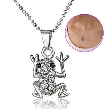 Lovely Frog Alloy Rhinestone Diamond Clavicle Chain Necklace Pendant Jewelry