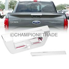 Triple Chrome Tailgate Trunk Rear Door Handle Cover Trim for 15-16 Ford F150 CT