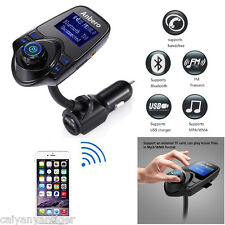 Wireless Car FM Transmitter Bluetooth Handsfree MP3 Player Kit With USB Charger