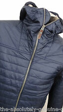 TIMBERLAND Navy Blue Primaloft Padded Quilted Hooded Jacket L Water Resistant