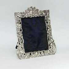 Rare 1887 Sterling Silver Photo Picture Frame Golden Jubilee Stuart Clifford