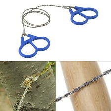 Hiking Camping Stainless Steel Wire Saw Emergency Travel Survival Gear HS