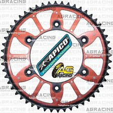 Apico Xtreme Red Black Rear Alloy Steel Sprocket 52T For Honda CR 125 1991 MotoX