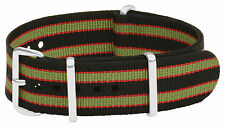 Nato Nylon Watch Strap 20mm Black Red Green Bracelet Bond Nato Band Correa Reloj