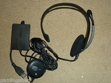 Sony PLAYSTATION 2 3 ps2 ps3 USB HEADSET MICROFONO UFFICIALI NUOVO! wired logitech
