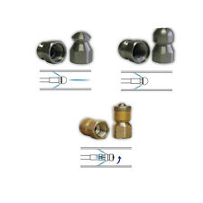 """Sewer Jet Drain Cleaner Jetting Nozzle Kit Include Mole Laser Rotating 1/4"""" #4"""