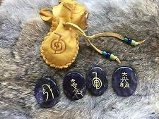 Reiki Stones Amethyst Quartz - thumbstone Crystal Healing Meditation magic