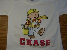 Bob the Builder Personalized T Shirt with Free Birthday Button