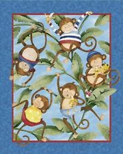 Monkey Business Cotton Fabric Panel - Springs Creative - 90cm x 110cm