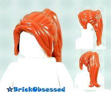 LEGO Female Minifigure Dark Orange Long Ponytail Side Bangs Girl Ninjago Claire