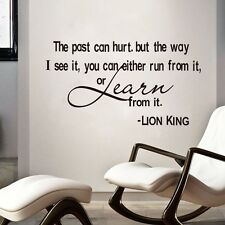 Learn From The Past Lion King Quotes Vinyl Art Decals Wall Stickers Room Decor