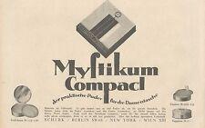 Y4203 MYSTIKUM Compact - Parfumerie Scherk - Pubblicità d'epoca - 1925 Old ad