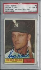 ROGER MARIS PSA GRADED 4 TOPPS 1961 SIGNED CARD #2 PSA/DNA CERTIFIED AUTOGRAPH