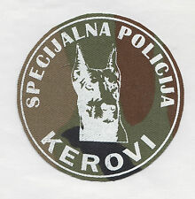 WESTERN  BOSNIA ARMY -  Special Police Squad KEROVI - DOGS -  sleeve patch