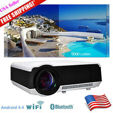 5000 Lumens Android 4.4 WIFI Full HD 1080P LED 3D TV Home Theater Projector HDMI
