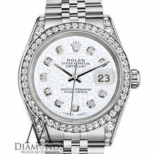 Ladies Rolex Datejust 26mm Stainless Steel White Color Jubilee Diamond Watch