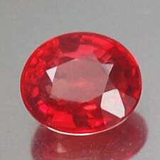 0.99CT CHARMING VVS AA OVAL VIVID FIERY RED RUBY NATURAL