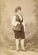 BOLD CURVACEOUS ACTRESS Antique RUSSIAN THEATER PHOTO 1870s St Petersburg SIGNED