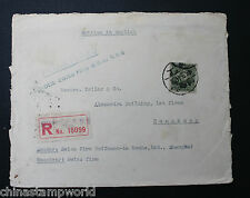China cover fm shanghai to HK fm a famous co. Hoffmann-la roche dd 18.9.1944