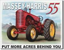 Massey Harris 55 Antique Style Retro Tin Sign Farmers Farm Machinery Gift 16""