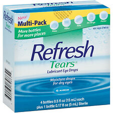Refresh Tears® Lubricant Eye Drops Multi-pack 4 Plus 1  (5 Bottles) NEW