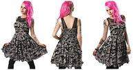 Poizen Industries Kalista Dress Ladies Black Goth Emo Punk