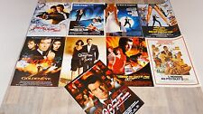 james bond 007 lot collection  9 affiches cinema james bond