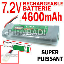 ► PACK BATTERIE 7.2V 4600MAH ACCU BATTERY RECHARGEABLE TAMIYA RC GRANDE CAPACITE