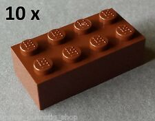 LEGO 10 x Stein / Bau - Steine Bausteine Basicsteine 2x4 braun NEUWARE