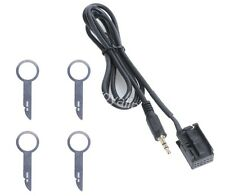 Ford Focus Mondeo 6000CD Aux Input Adapter Cable iPod iPhone MP3 + Removal Keys