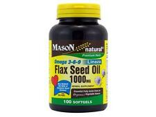 100 SOFTGELS FLAX SEED OIL 1000 MG OMEGA 3-6-9 Organic vegetable source LINAZA