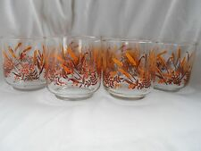 7 NEW OLD STOCK Vintage Retro Anchor Hocking CATTAIL Drinking Glasses